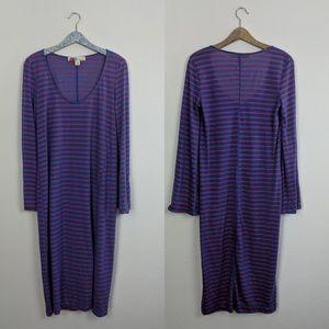 Free People Beach La Jolla Stripe Slit Dress